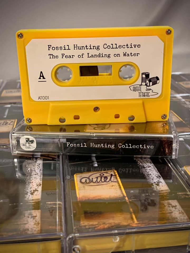 Fossil Hunting Collective ptoduct photo of yellow cassette for The Fear of Landing on Water