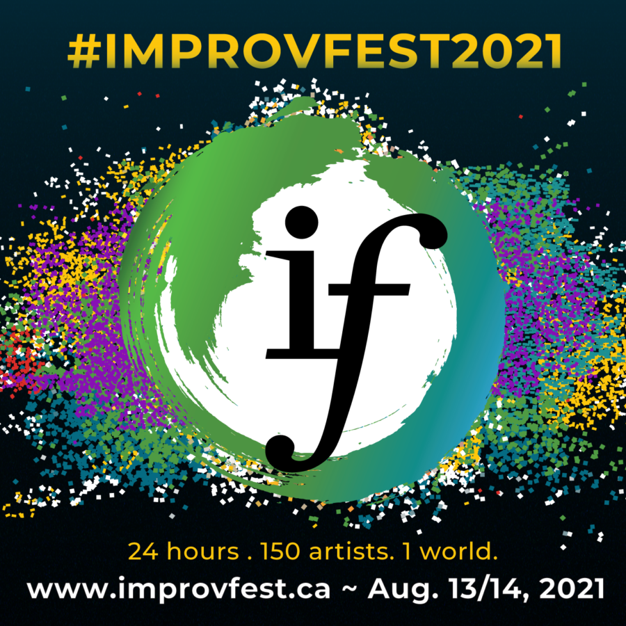 improvfest logo and date infor