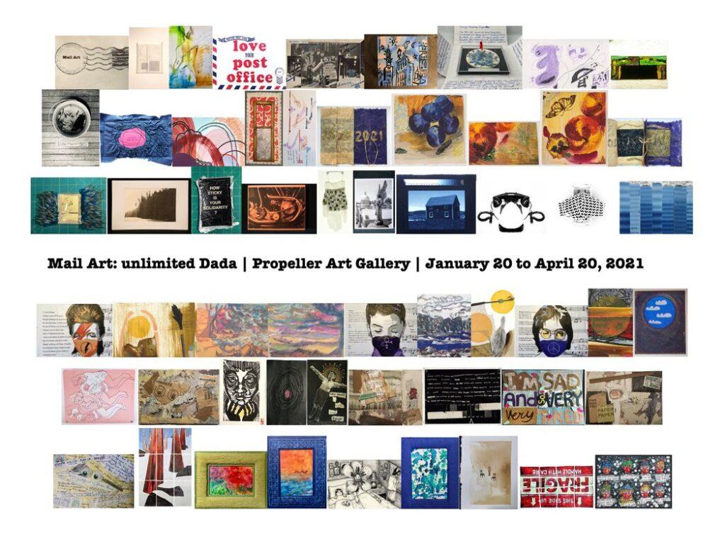 mail art exibition promotion image